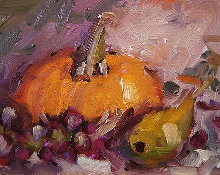 Mr. Pumpkin and his buddies by R W Goetting