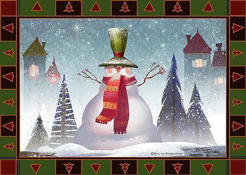 Mr. Snowman by Kristina Vardazaryan