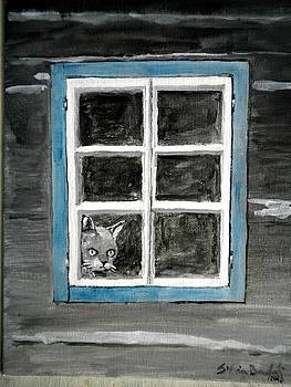 Mr Watcher - meditation at the window by Silvia Beneforti