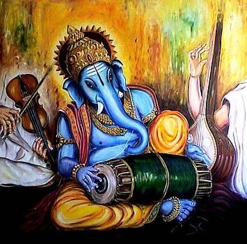 Mridanga Ganesh by Murali