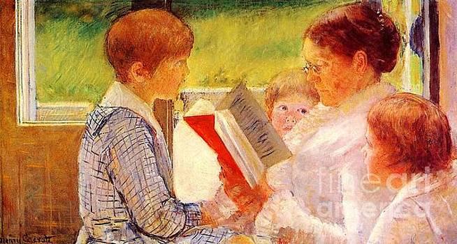 Cassatt - Mrs. Cassatt Reading To Her Grandchildren