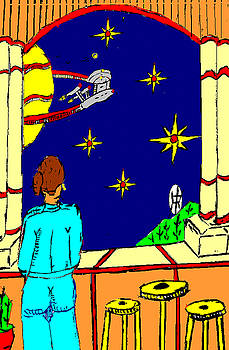 Ms Cleo On A Balcony In Paradise by Anthony Benjamin