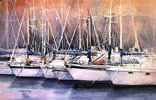 Msida Marina by Diane Agius