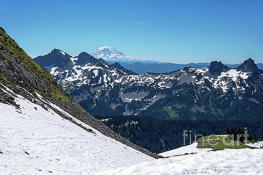 Mt Adams and the Tatoosh by Sharon Seaward