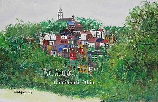 Mt Adams Cincinnati Ohio with Title by Diane Pape