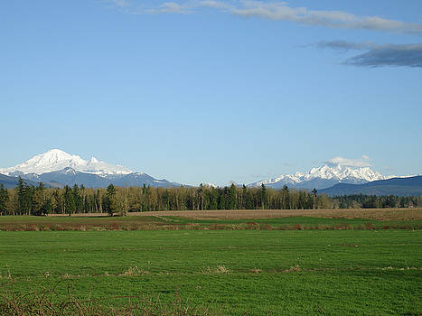 James E Weaver - Mt Baker and Twin Sisters