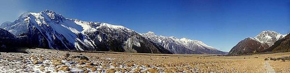 Mt Cook Panorama New Zealand by Keira MacVinish