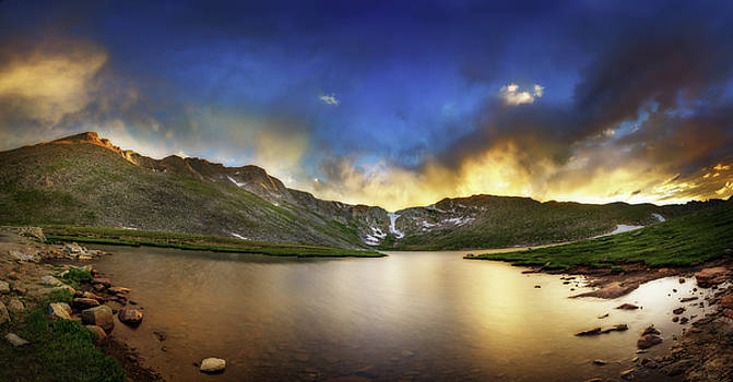 Chris Bordeleau - Mt. Evens Summit Lake Sunset