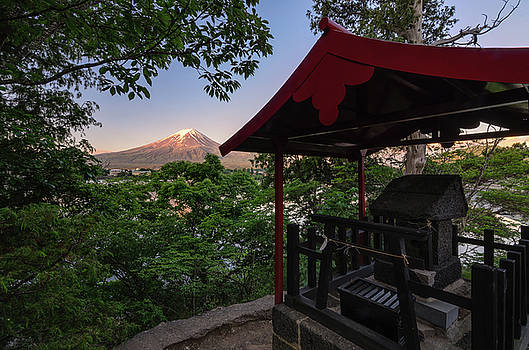 Mt Fuji from Ubuyagasaki Shrine by Craig Szymanski