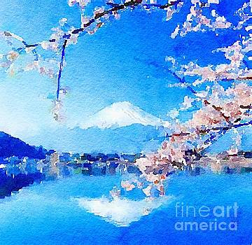 Mt. Fuji with Cherry Blossoms by Rich Governali