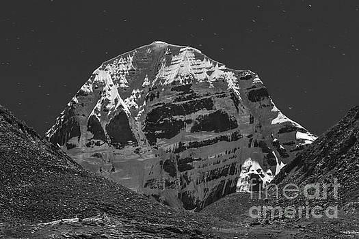 Mt. Kailash in Moonlight by Hitendra SINKAR
