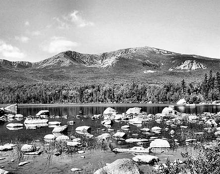 Sandra Huston - Mt. Katahdin in Black and White
