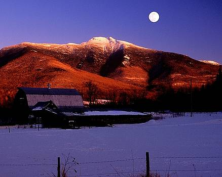 Mt Mansfield Moonrise by Philip Bobrow