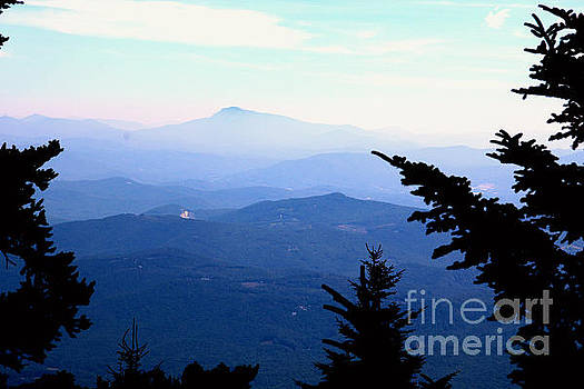 Mt Mitchell in the Mist by Marilyn Carlyle Greiner