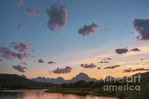 Mt Moran at Sunset by Sharon Seaward