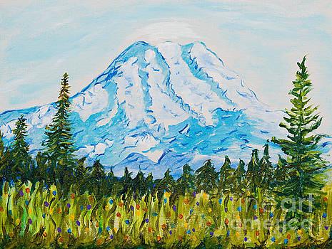 Mt. Rainier Washington by Art by Danielle