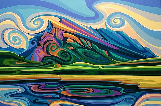 Mt Rundle by Christine Karron