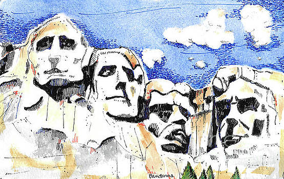 Mt. Rushmore, USA by Terry Banderas