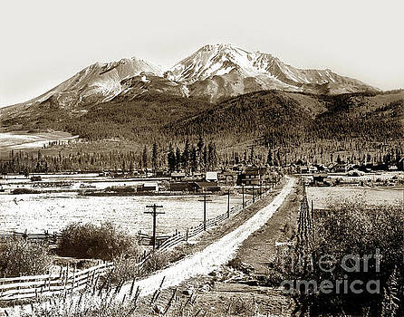 California Views Mr Pat Hathaway Archives - Mt. Shasta Viewed from Sisson Lane Circa 1908