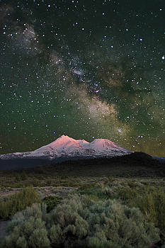 Mt Shasta with Milky Way#2 by Keith Marsh