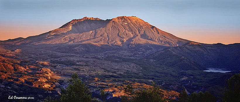 Mt St Helens sunset by Edward Coumou