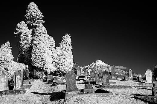 Mt Taranaki In Infrared Monochrome by Russ Dixon