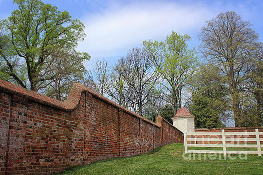 Mt. Vernon Garden Wall by Karen Adams