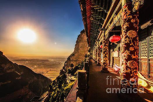 Mt. Emei temple view by Adrian Baljeu