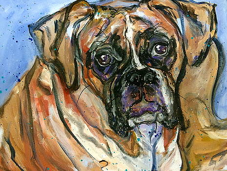 Mug Shot of a Boxer by Mary Gallagher-Stout