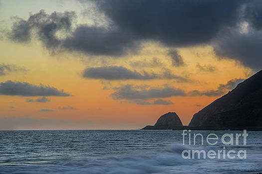 Mugu Rock at Sunset by Jeffrey Hubbard