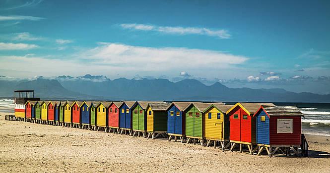 Muizenberg Beach Huts 1 by Deborah Ann Stott