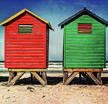 Muizenberg beach huts 2 by Deborah Ann Stott
