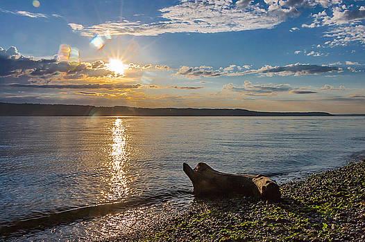 Mukilteo Beach by Ed Clark