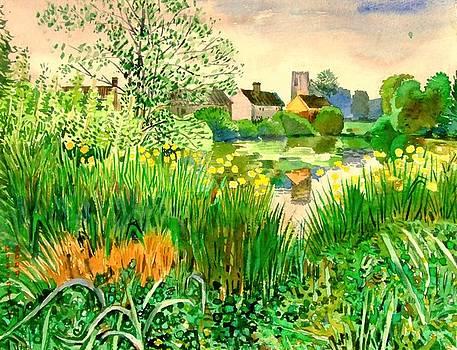 Mulbarton Pond Norwich England by Hopebaby Pradit