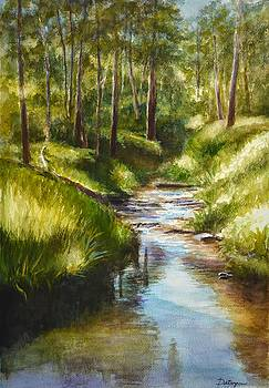 Mullum Mullum Creek on a Sunny Sunday Morning by Dai Wynn