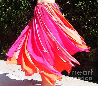 Sofia Metal Queen - Multi-color chiffon skirt. Ameynra dance-inspired fashion