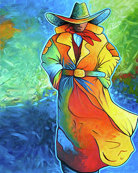 Multi Color Cowboy by Lance Headlee