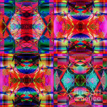 Multicolored Prisim Kaleidoscope  by Suzanne Powers