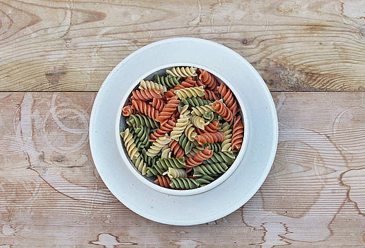 Multicolored Rotini Pasta by Natalie Schorr