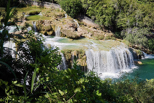 Multiple Waterfalls at Krka by Sally Weigand
