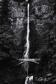 Multnomah Falls 1 Monochrome by John Gusky