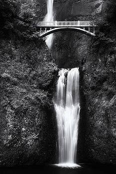 Multnomah Falls 2 Monochrome by John Gusky