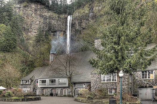 Multnomah Falls Lodge and Restaurant Columbia River Gorge Oregon by Dustin K Ryan