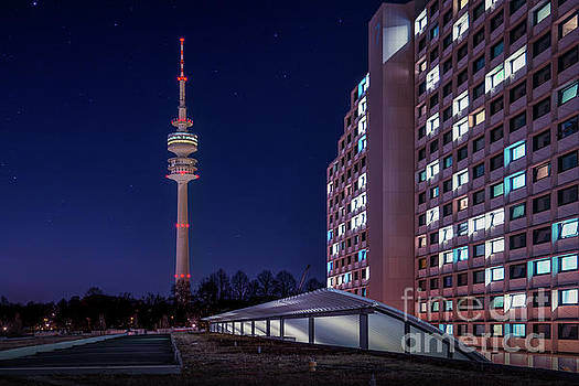 Munich - Olympictower and village by Hannes Cmarits