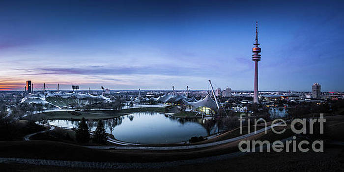 Munich - watching the sunset at the Olympiapark by Hannes Cmarits