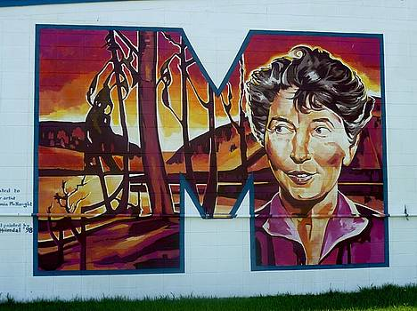 Mural 12x120 feet detail Euphemia McNaught Midwest by Tim  Heimdal
