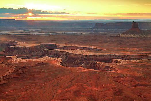 Murphy Point Sunset Canyonlands National Park by Roupen  Baker
