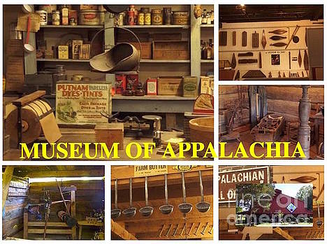 Museum of Appalachia Block Collage by Karen Francis