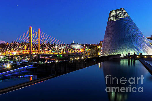 Museum of glass at blue hour by Sal Ahmed
