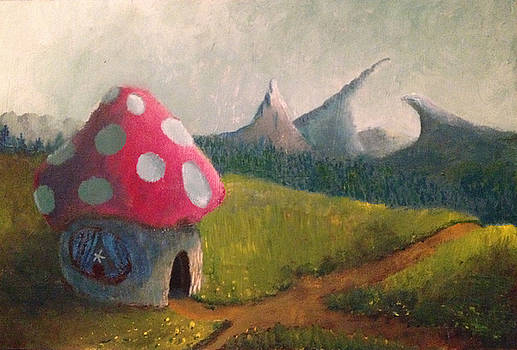 Thomas Olsen - Mushroom house with flower